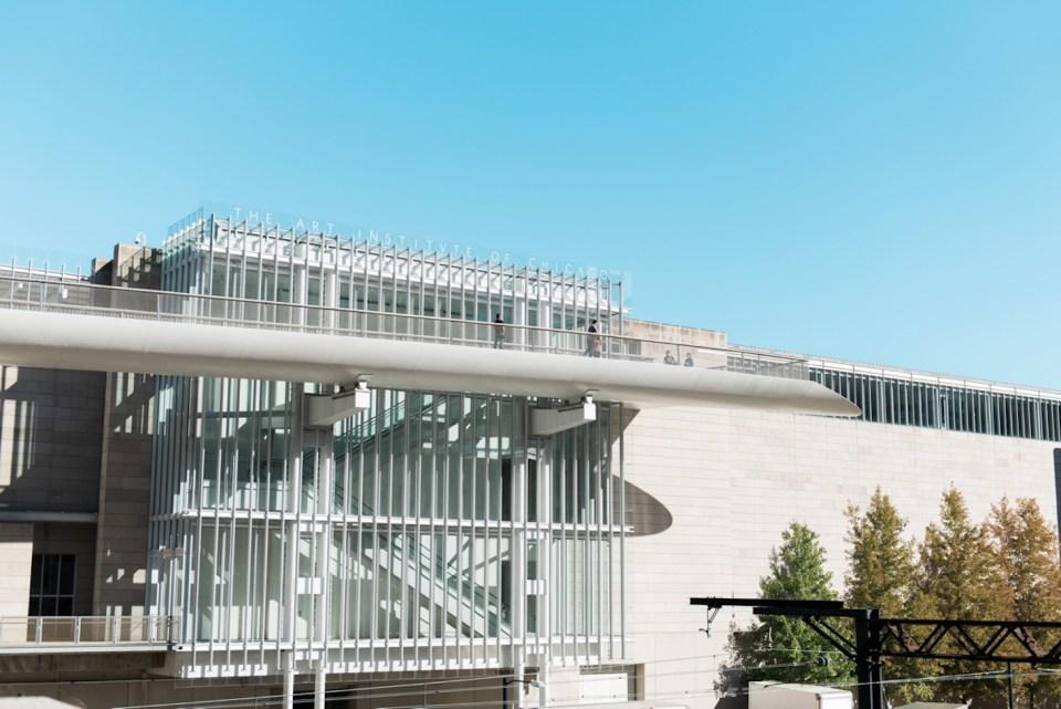 Exterior shot of the Art Institute of Chicago