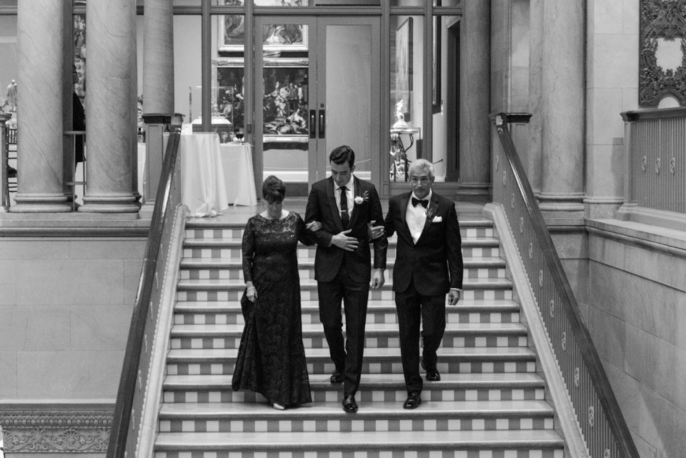 Wedding processional on the Grand Staircase of the Art Institute of Chicago