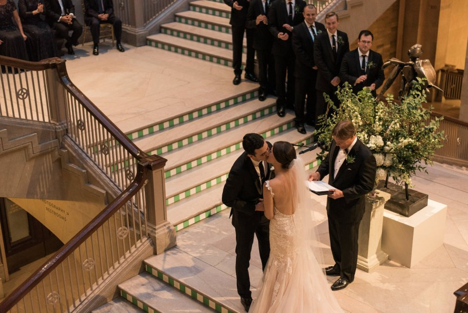 Couple has first kiss