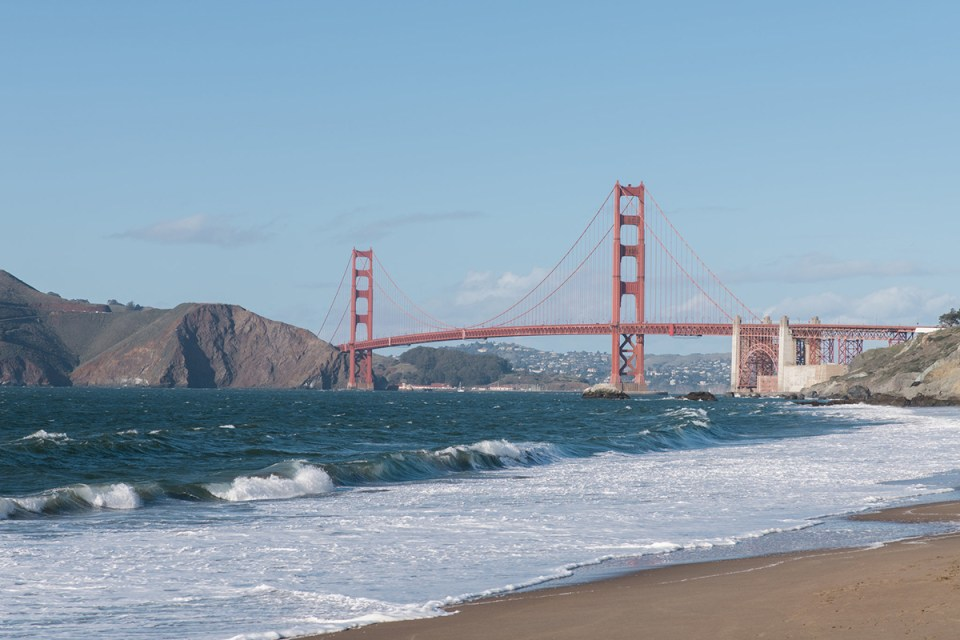 Golden Gate Bridge from Baker Beach in San Francisco