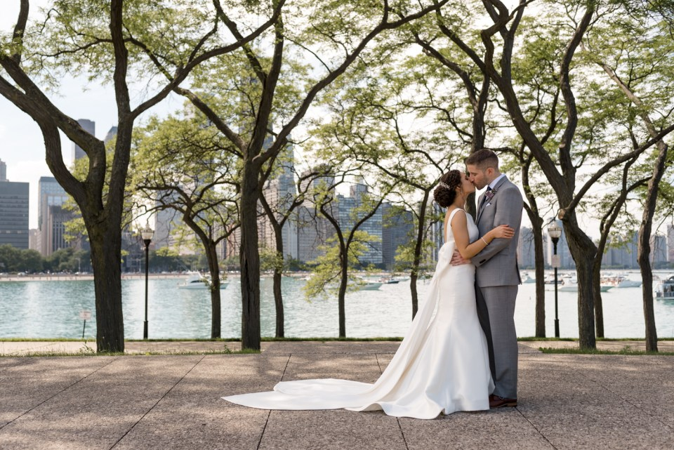 Couple portraits at Olive Park in Chicago IL