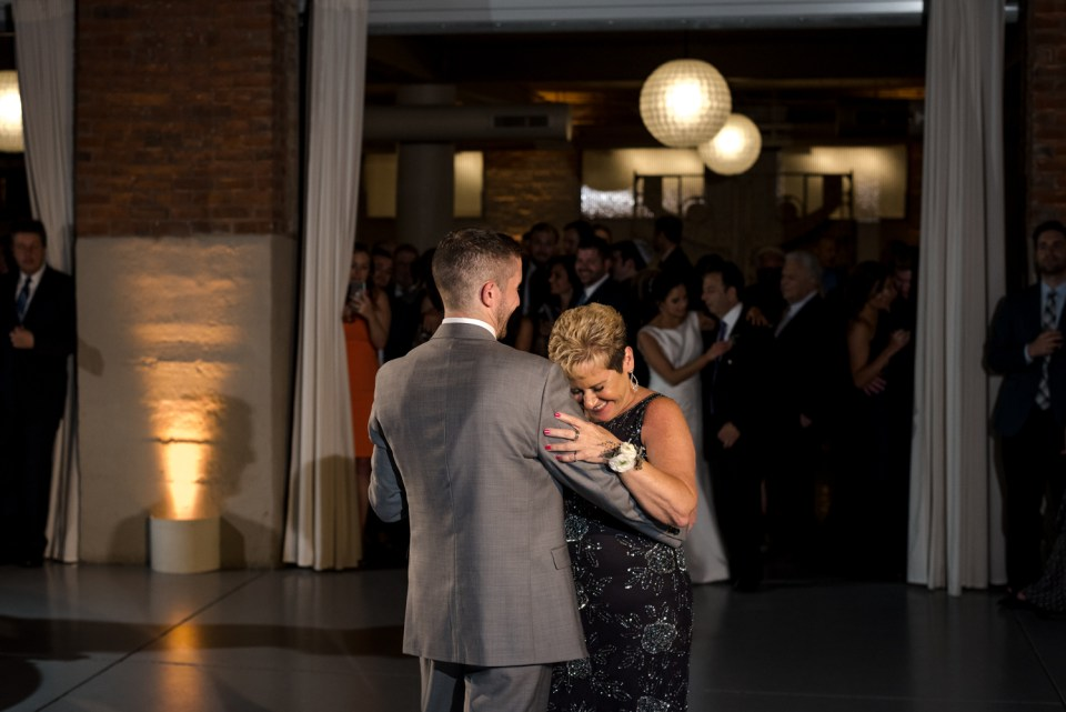 Groom shares a dance with his mother at Artifact Events