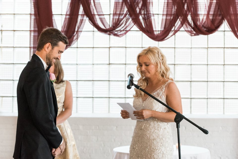 Bride says vows at Room 1520 in Chicago IL