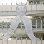 Giant White Ribbon displayed at Auckland Hospital