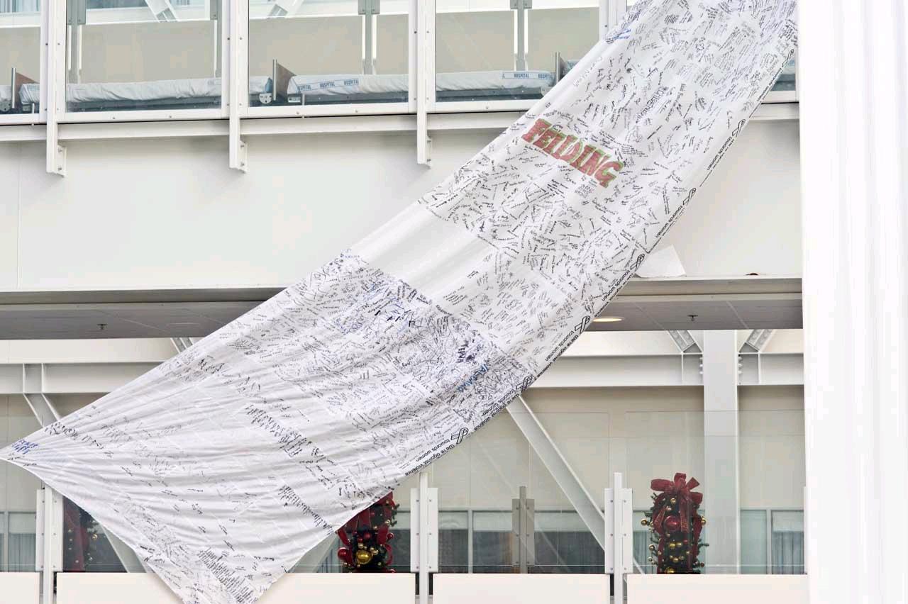 White Ribbon hanging 1