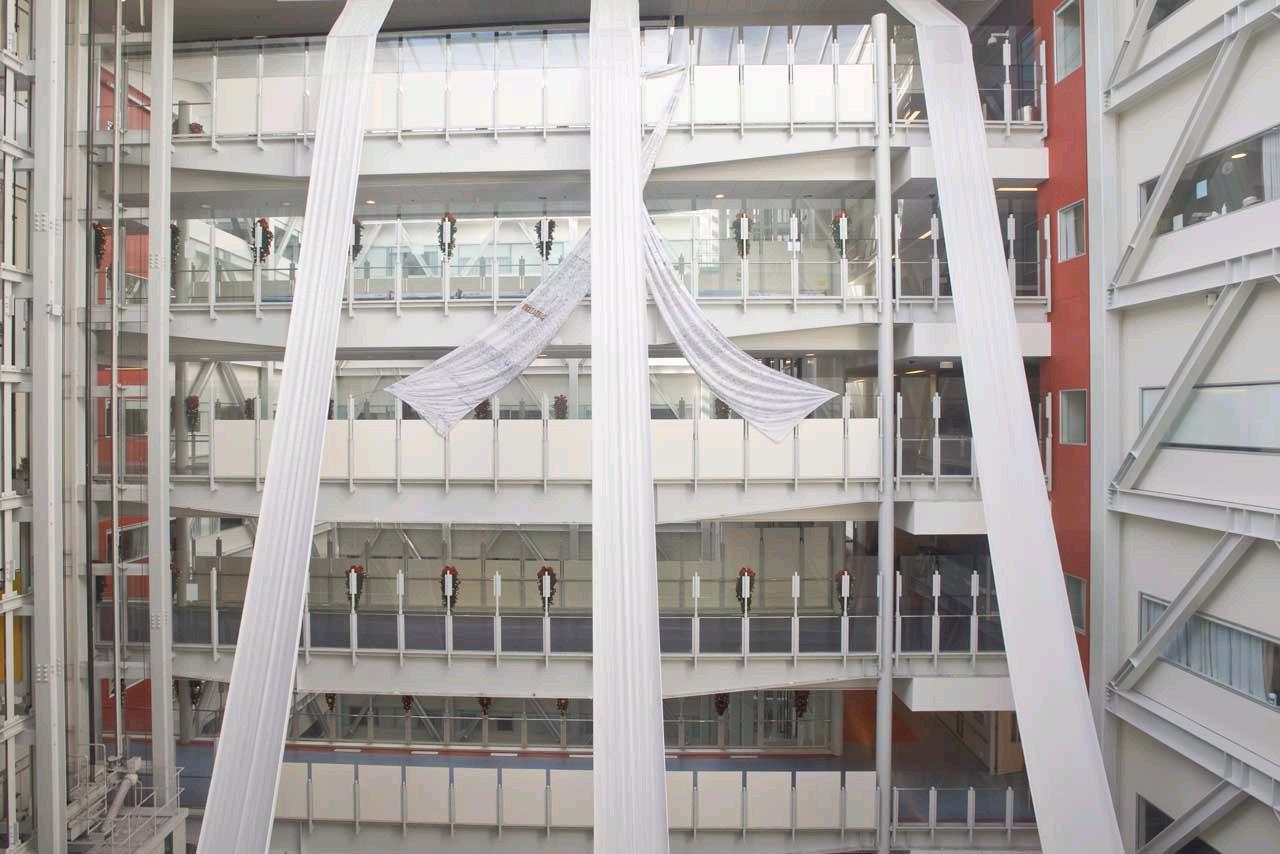 white ribbon hanging 3
