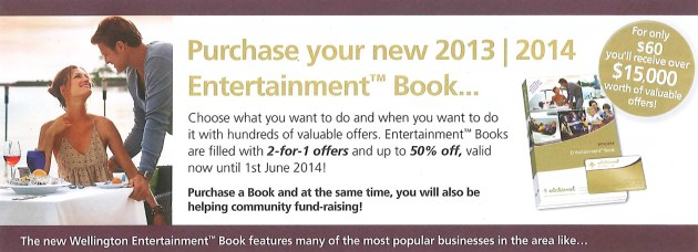 Entertainment Book header