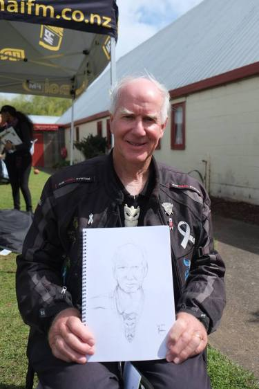David White with sketch