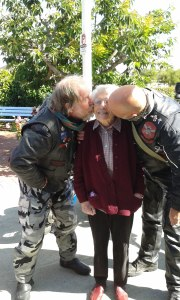 Colin and Doug saying goodbye to their mum - Jean Agnew 96 years old at Whareama Rest Home Nelson