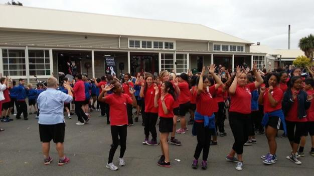 Dancing at Riccarton School