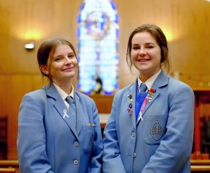 Josie Kyle and Madison Hughes are helping to raise awareness and funds for White Ribbon
