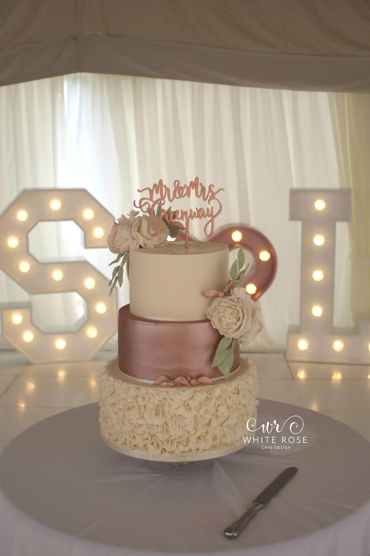 A Peach and Rose Gold Marquee Wedding with a Harry Potter
