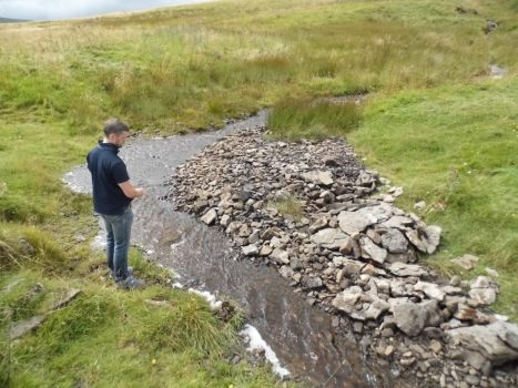 Me inspecting the newly arrived stream (Photo - Joe Parsons).