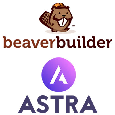 I build websites with Beaver Builder and Astra Pro