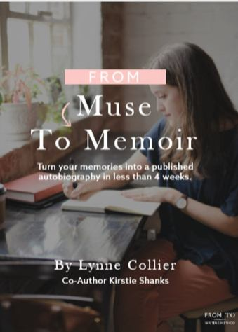 From Muse to Memoir cover showing a woman working at her desk.