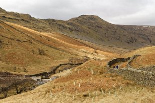 Looking back towards High Pike from Scandale. Hydro-electric installation can be seen
