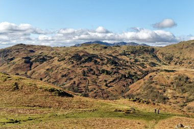 From Helm Crag with Coniston range in the far distance