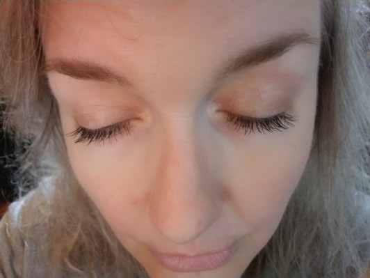 Brow and Lash Serum My eyelashes and eyebrows Close up