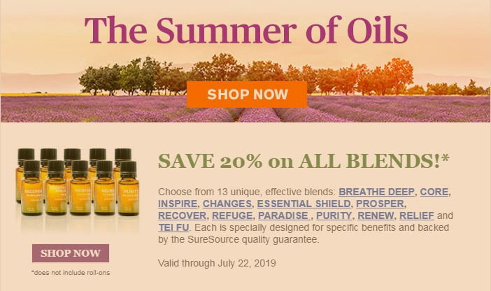 Summer of Oils Sale 2019