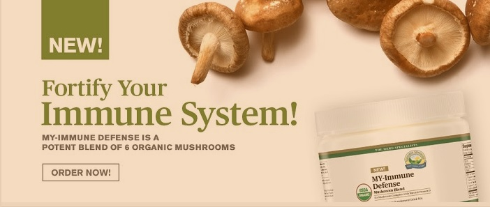 MY Immune Defense organic mushrooms