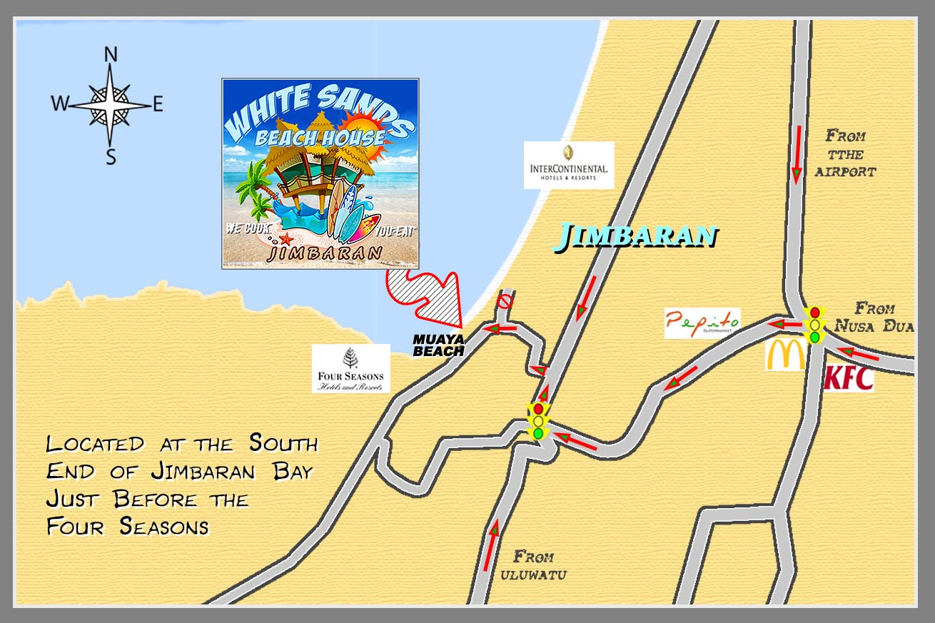 White Sands Beach House Jimbaran Bali Map