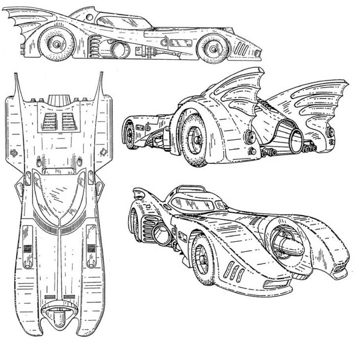 100day 100 marvelous batmobile coloring pages 98