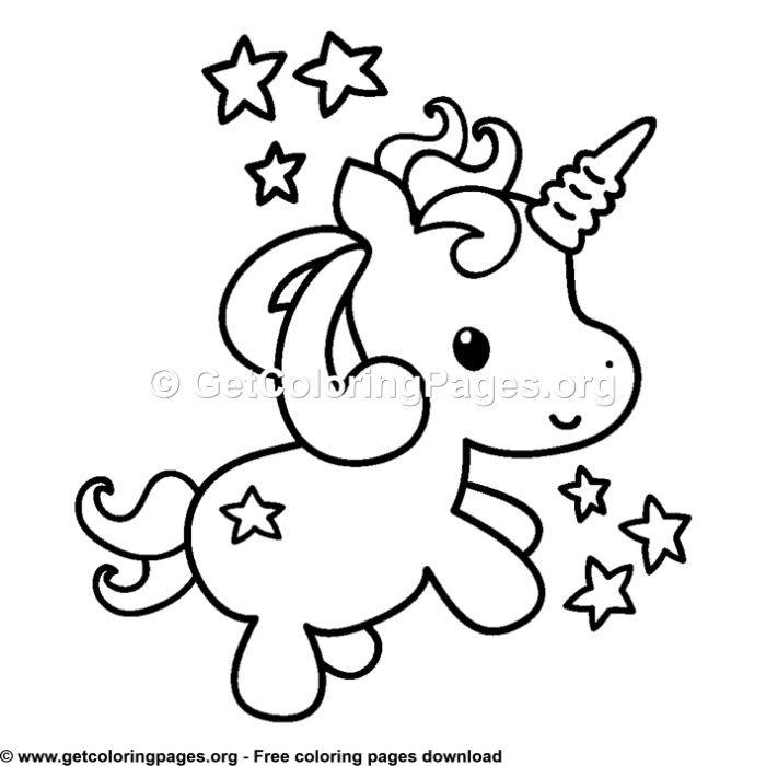 103 cute cartoon ba unicorn coloring pages unicorn