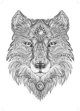 11301 wolf free clipart 55