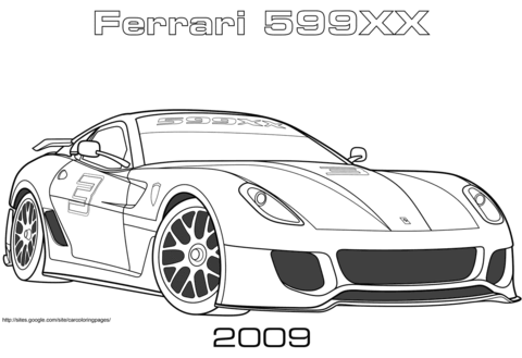 2009 ferrari 599xx coloring page free printable coloring pages