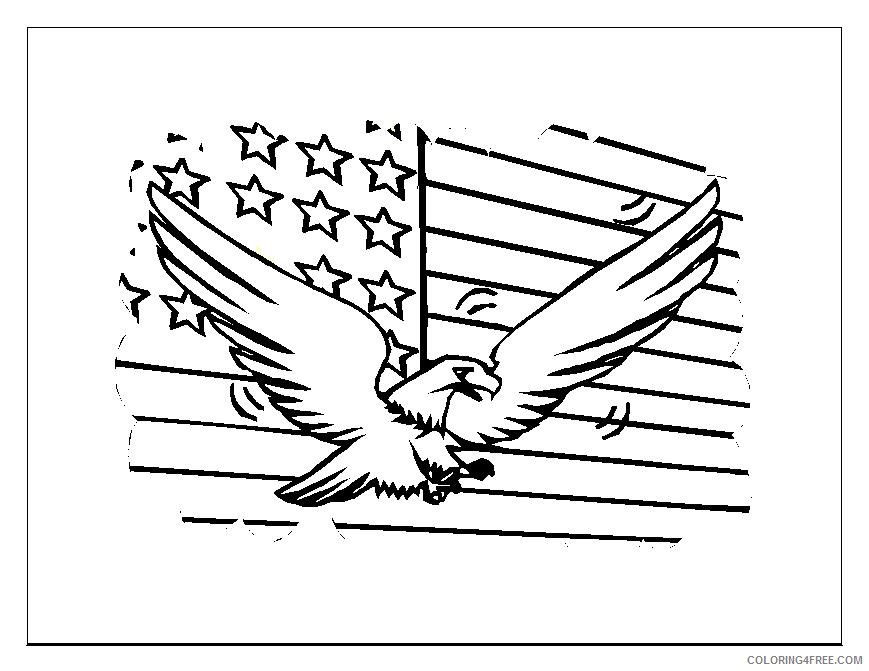 4th of july coloring pages bald eagle coloring4free