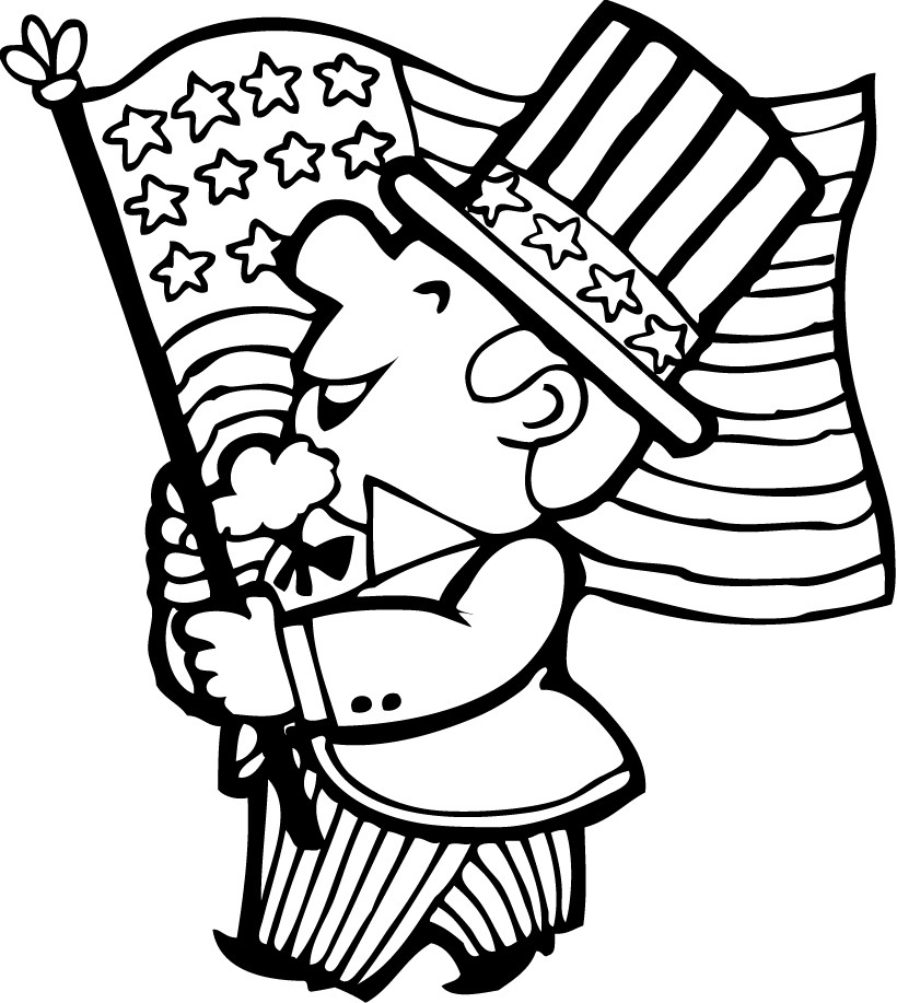 4th of july parade coloring pages hellokids