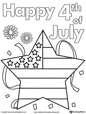 4th of july star flag coloring page color pages flag