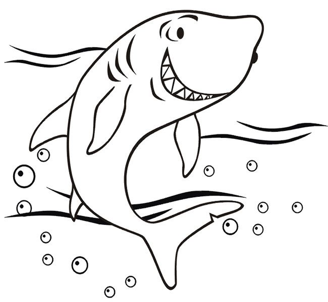 55 shark shape templates crafts colouring pages