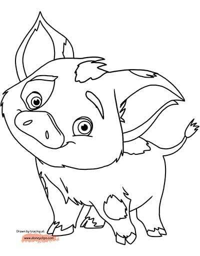 59 moana coloring pages august 2019 maui pua from and