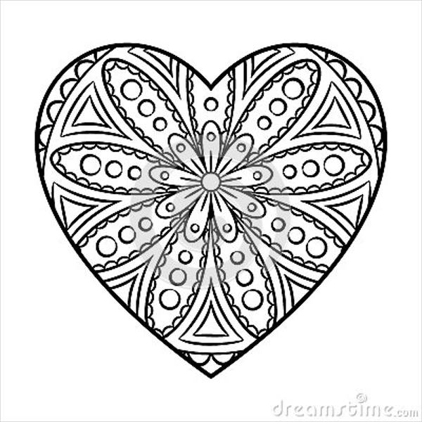 7 heart coloring pages jpg ai illustrator download