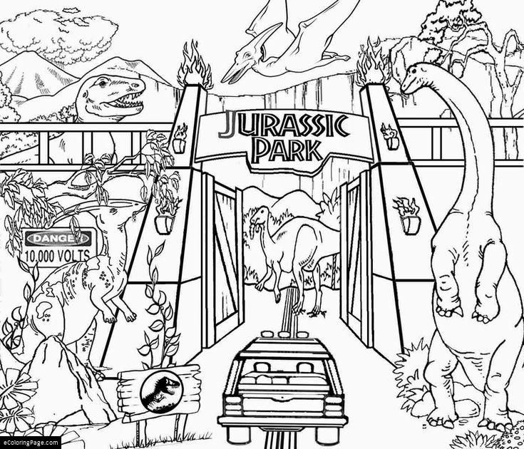 7 jurassic park coloring pages printable for kids dinosaur
