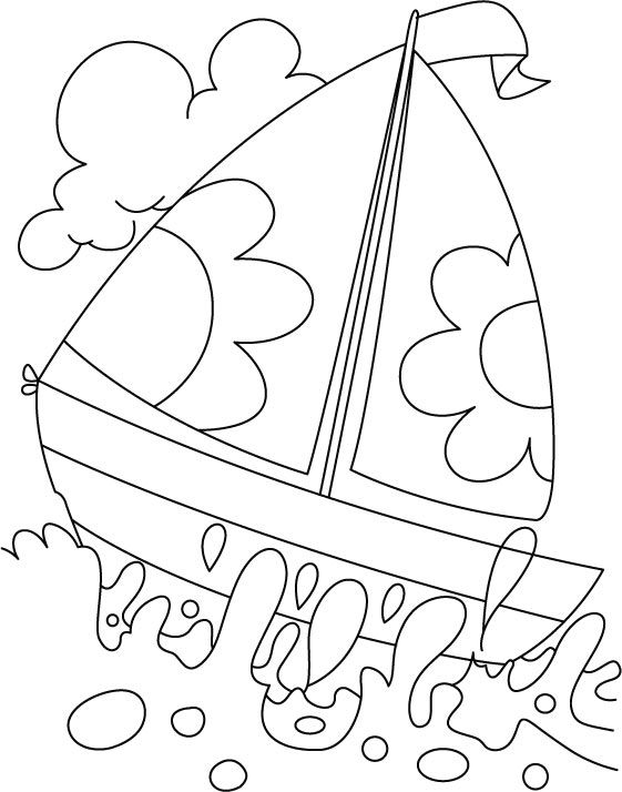 a boat in deep water coloring page coloring pages