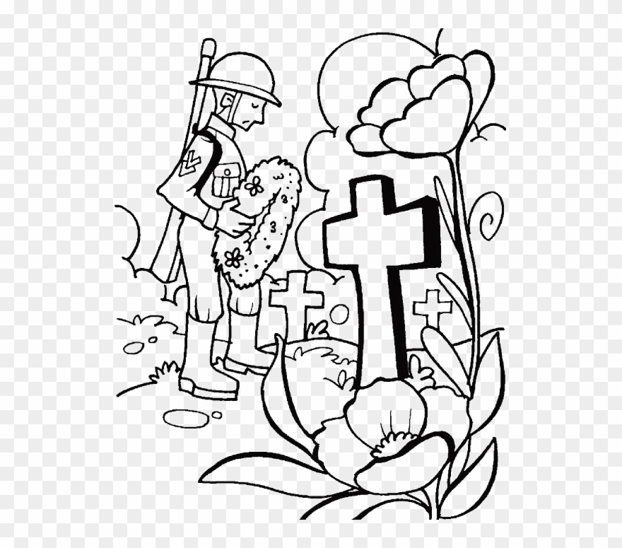 a visit to the tomb on memorial day coloring for kids