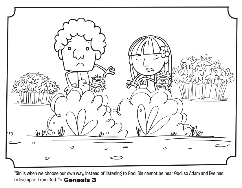 adam and eve leave the garden coloring pages whats in