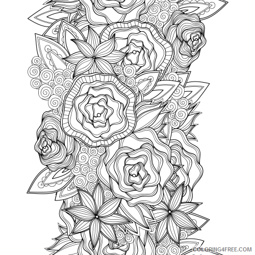 advanced coloring pages of roses coloring4free