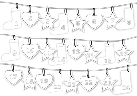 advent calendar coloring page free printable coloring pages