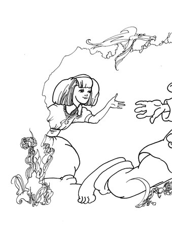 alice in wonderland coloring page free printable coloring