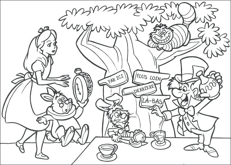 alice in wonderland coloring pages for adults at getdrawings