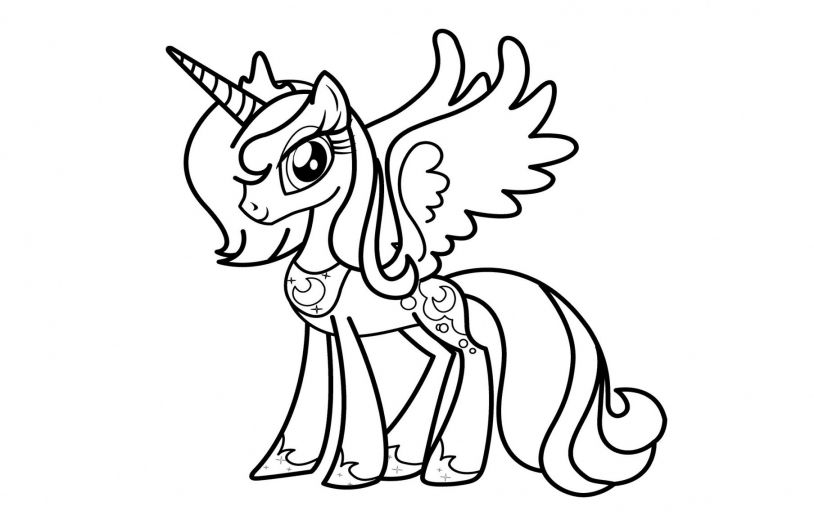 alicorn coloring pages beautiful pony coloring page home