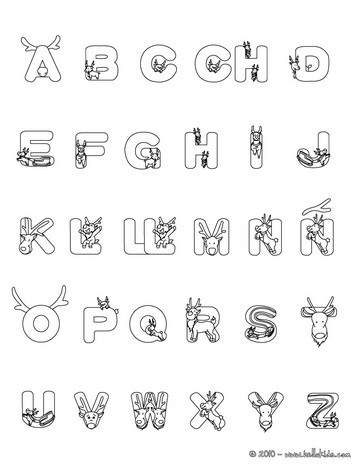 alphabet coloring pages hellokids