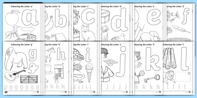 alphabet colouring pages resource pack alphabet letter