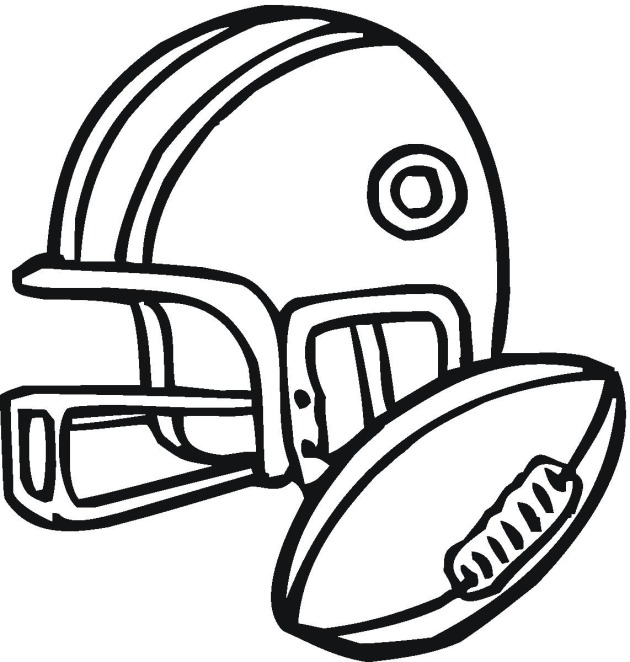 american football 3 coloring page