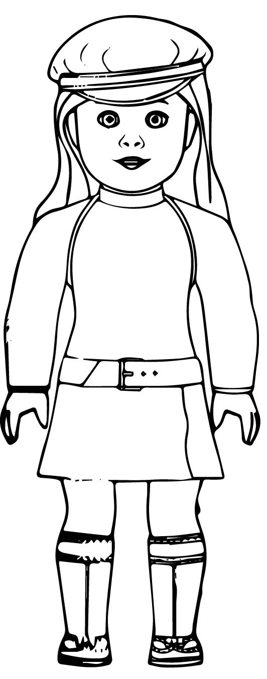 American Girl Doll Coloring Tag: American Girl Doll Coloring Pages ... | 1350x532