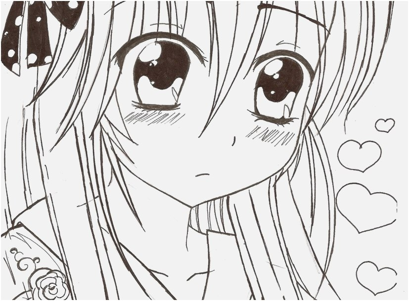anime coloring sheets pics anime kawaii girl oc razor