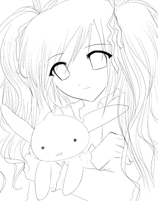 anime neko girl coloring page cs animaldoctor